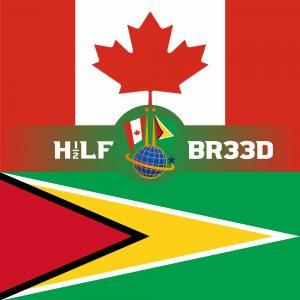H1/2LF BR33D – CANADA - GUYANA FLAG