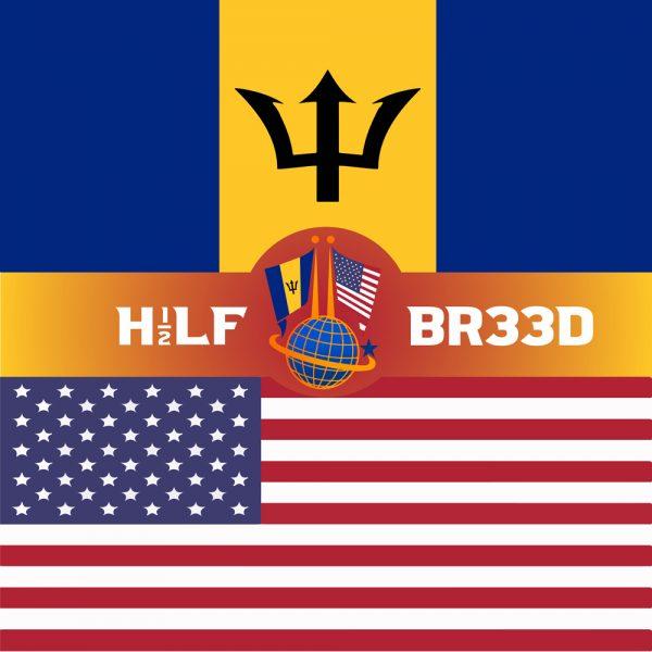 H1/2LF BR33D – BARBADOS - USA FLAG