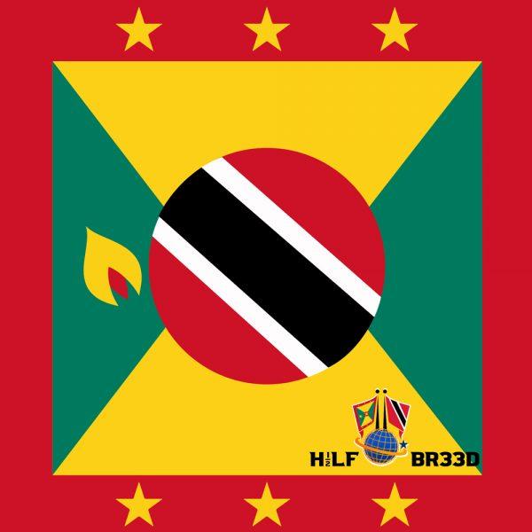 H1/2LF BR33D – GRENADA - TRINIDAD & TOBAGO FLAG