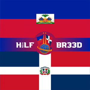 H1/2LF BR33D – HAITI - DOMINICAN REPUBLIC FLAG