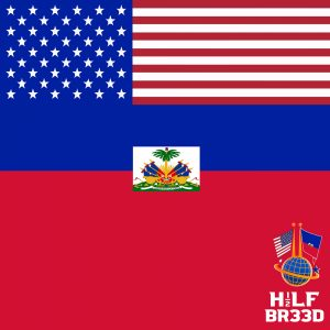 H1/2LF BR33D – USA - HAITI FLAG