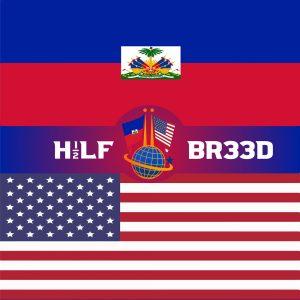 H1/2LF BR33D – HAITI - USA FLAG